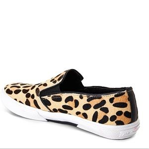 Kenneth Cole leopard hair flats sneakers